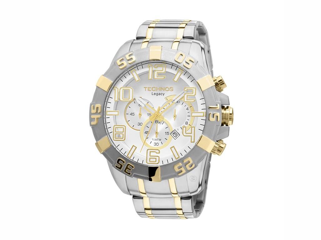 8b886b30223 Relógio Technos Classic Legacy Prata e Dourado Masculino Authentika ...