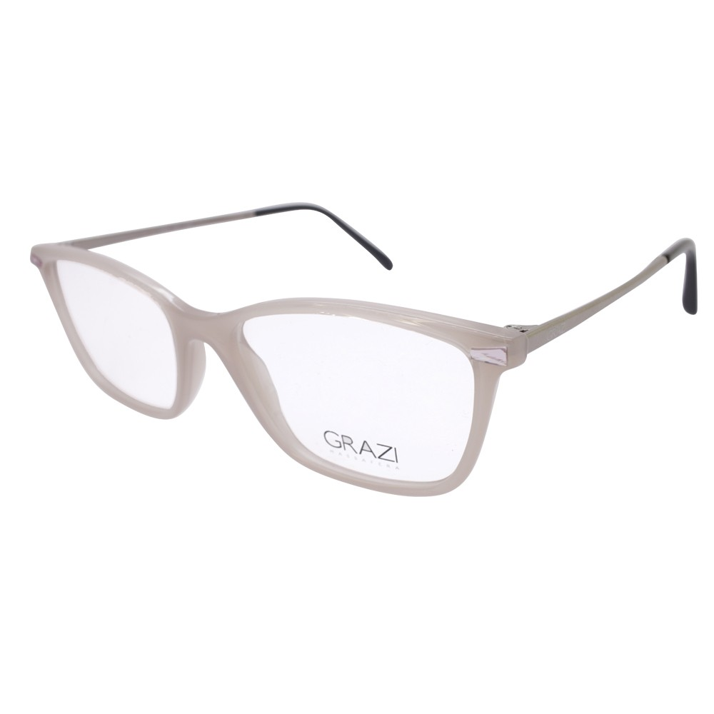 3075357a4f599 Óculos de Grau Grazi Massafera Quadrado Acetato Bege Aro Fechado Sem  Plaquetas 0gz3049b f711 52 ...