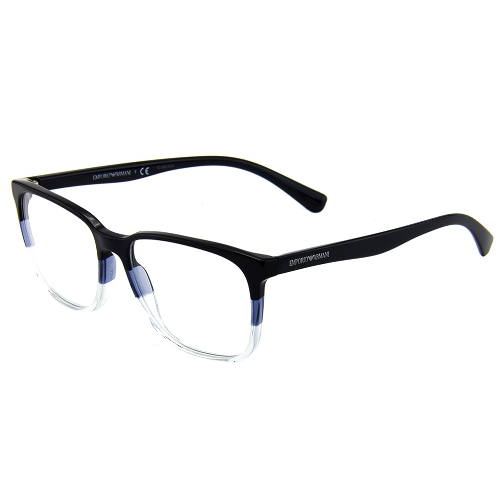 Óculos de Grau Emporio Armani Quadrado Acetato Azul Aro Fechado Sem  Plaquetas 0ea3127 5629 55 ... ad9eb32c76