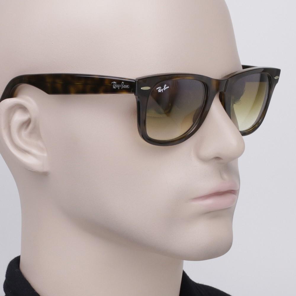 Óculos de Sol Ray-Ban Wayfarer Amação Acetato Tartaruga Lente Marrom  Degradê Sem Plaquetas 0rb4340 ... 01f74ff930