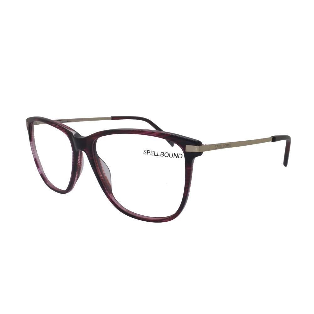 Óculos de Grau Spellbound Quadrado Acetato Vermelha Aro Fechado Sem  Plaquetas sb 15716 4 ... 8733f1395c