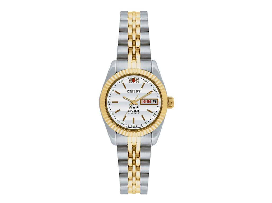 28e19f6800a Relógio Orient Automatic Prata e Dourado Feminino Authentika Joias