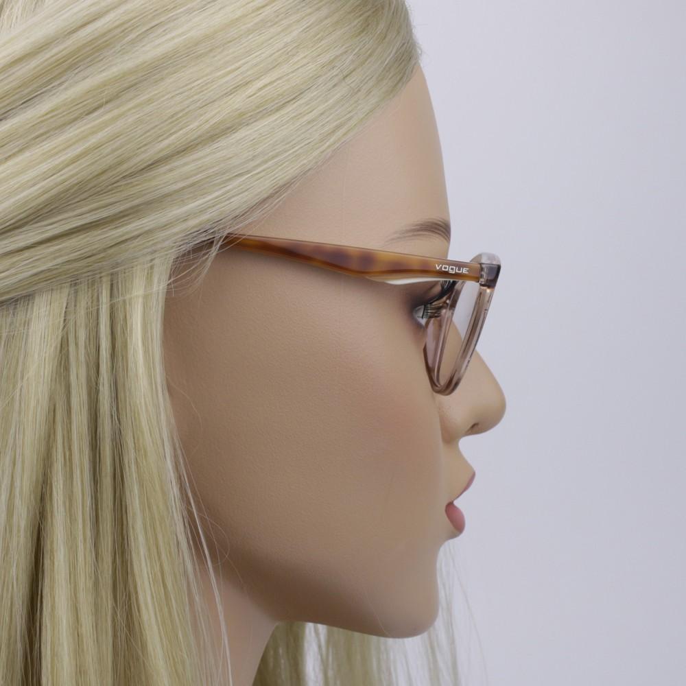 b570237c8d8df ... Óculos de Grau Vogue Gatinho Acetato Marrom Aro Fechado Sem Plaquetas  0vo5128l 2502 53