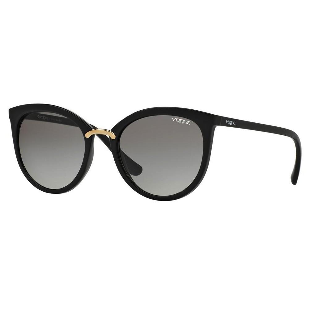 2bba2722658c2 Óculos de Sol Vogue Gatinho Armação Acetato Preto Lente Preta Degradê Sem  Plaquetas vo5122sl w44  ...