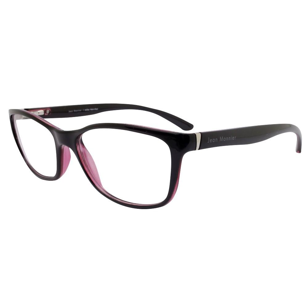 1abb80b7ef451 Óculos de Grau Jean Monnier Retangular Acetato Bordô Aro Fechado Sem  Plaquetas 0j83130 c314 52 ...