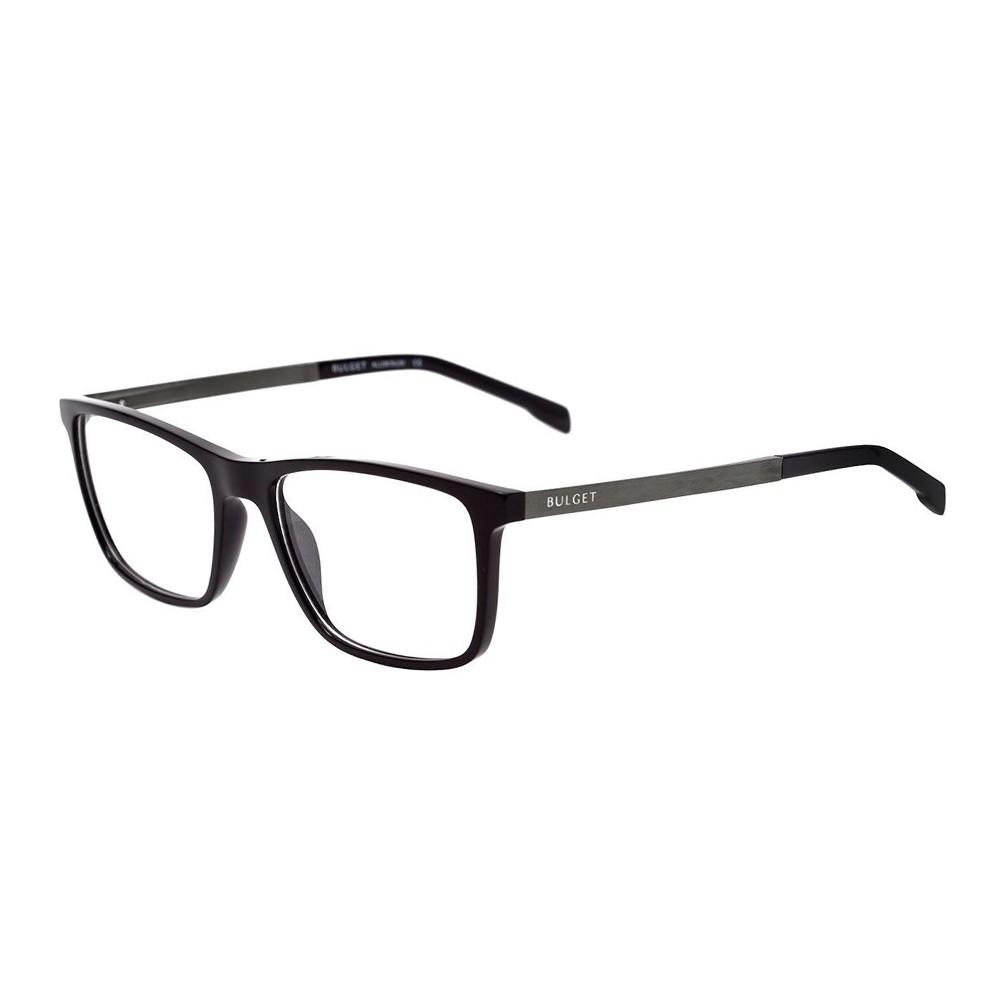Óculos de Grau Bulget Retangular Acetato Preta Aro Fechado Sem Plaquetas  bg4099 a01 ... a05ddca1aa