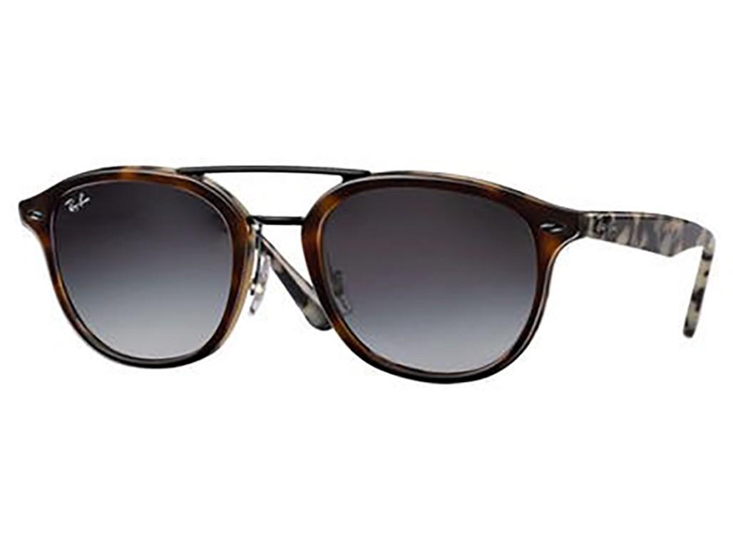 3f75b89566c0f Óculos de Sol Ray-Ban Redondo Armação Acetato Tartaruga Lente Preta Degradê  Sem Plaquetas 0rb2183