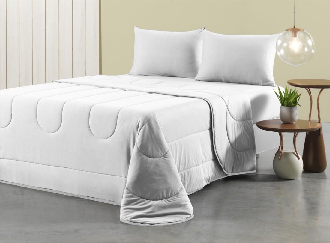 a9941ed0cd Kit Cobre Leito King Size Extra Branco 3pçs