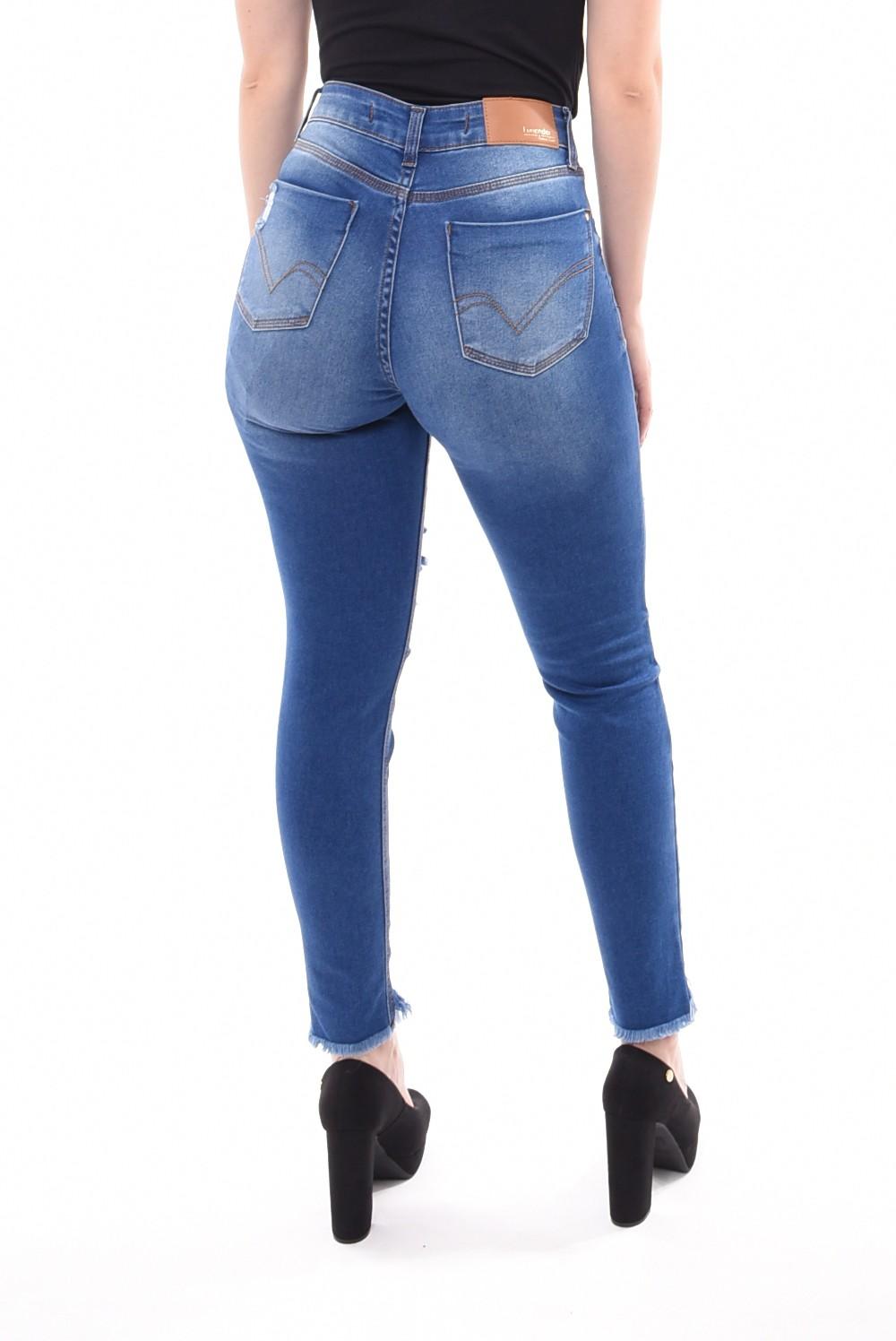 6479b3359c Calça Jeans Lunender Capri Rasgada Chapa Barriga · Calça Jeans Lunender  Capri Rasgada Chapa Barriga