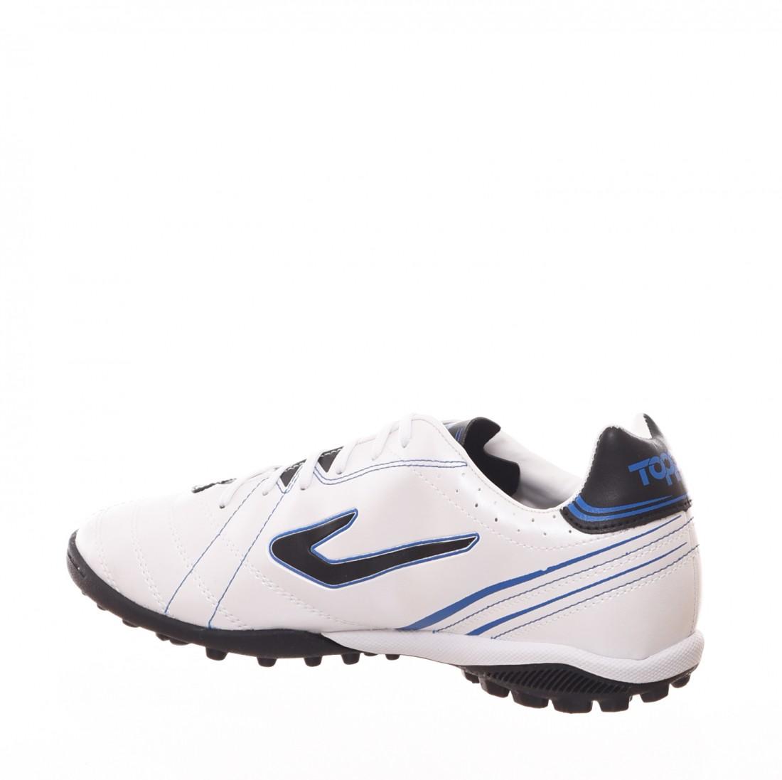 321ae4c45e ... Chuteira Society Topper Titanium 6 Detalhe Costura Branco e Azul ...
