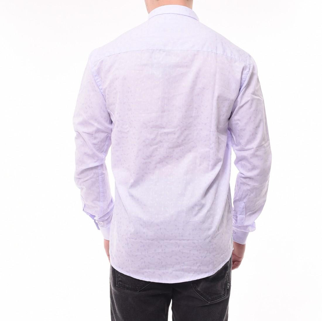ccad331c5d4 Camisa Ogochi Super Slim Jacquard Lilás · Camisa Ogochi Super Slim Jacquard  Lilás