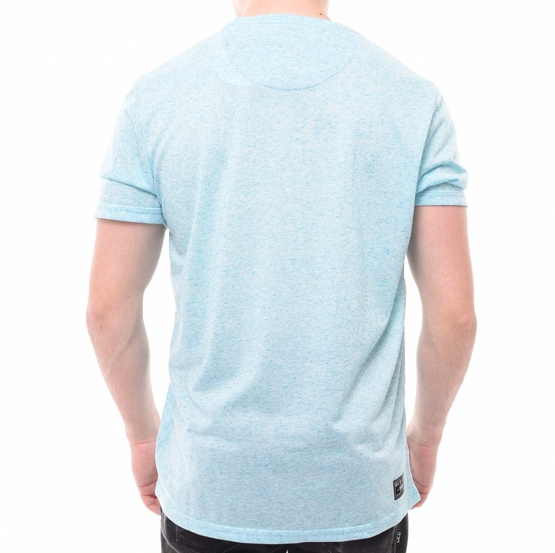 Camiseta Oceano Bolso Floral Azul Mescla · Camiseta Oceano Bolso Floral Azul  Mescla 7972e570b48