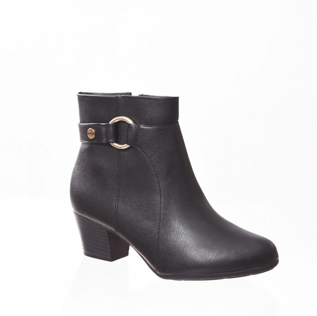 8f711e8e96 Bota Ankle Boot Modare Ultra Conforto Detalhe Fivela Preta - LM ...
