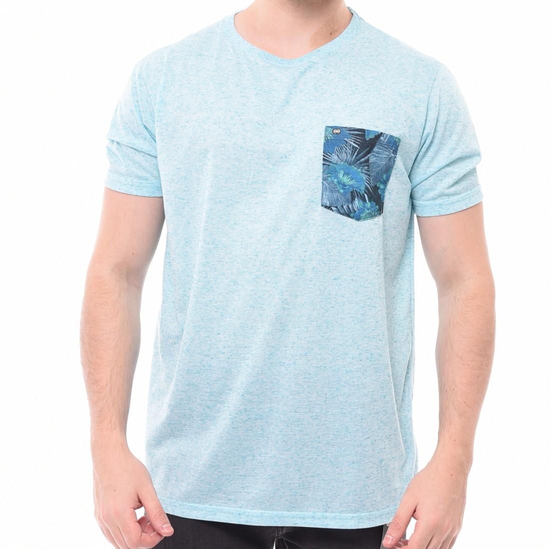 Camiseta Oceano Bolso Floral Azul Mescla - LM Martins - Veste você ... 12db8f0b272
