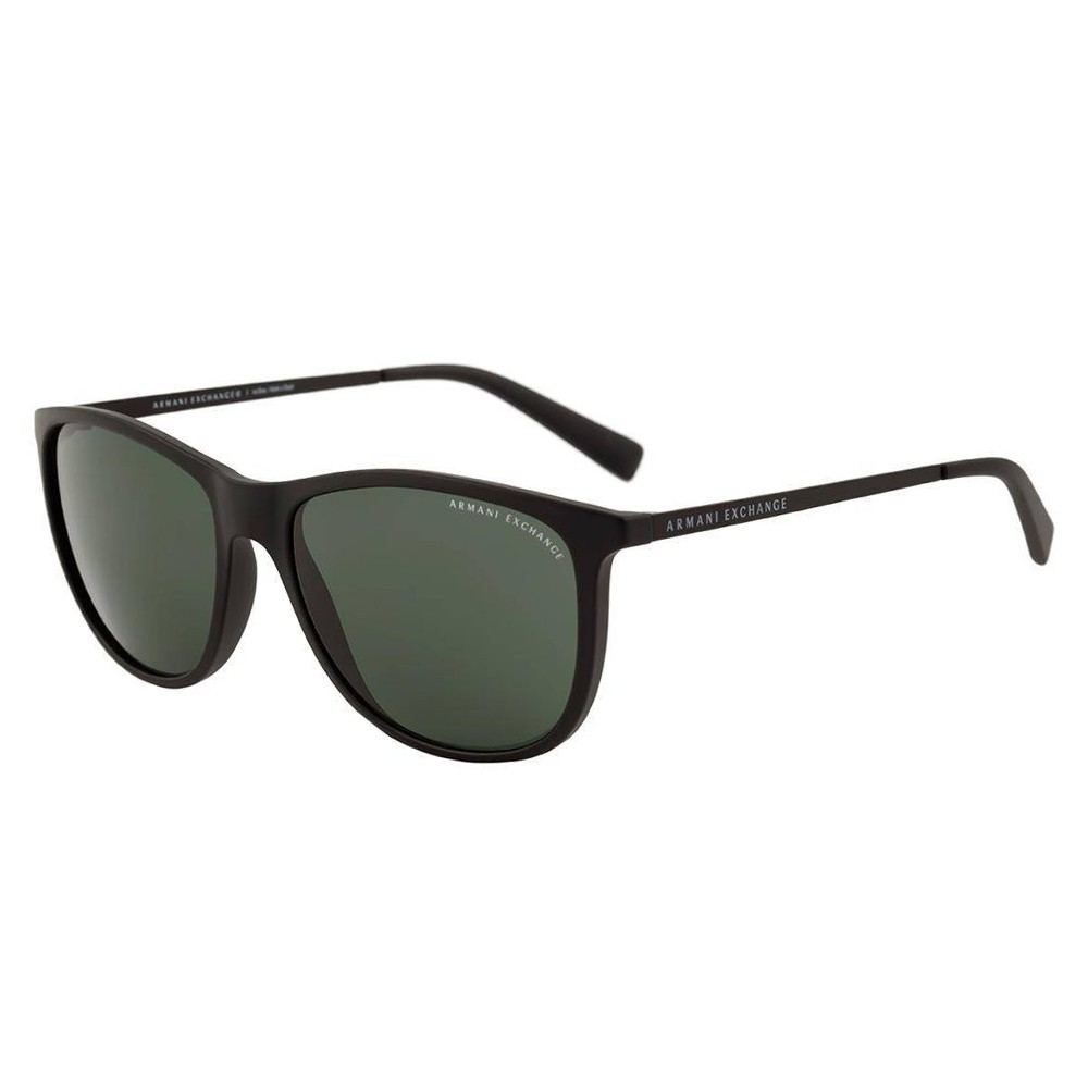Óculos de Sol Armani Exchange Redondo Armação Plástico Preta Lente Preta  Comum Sem Plaquetas 0ax4047sl 80787157 ... 394407894e