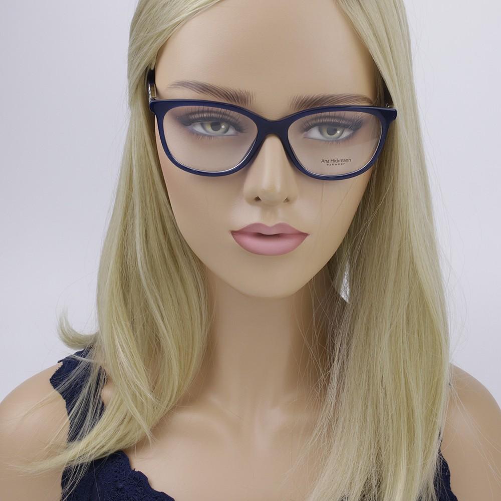 ... Óculos de Grau Ana Hickmann Gatinho Acetato Azul Aro Fechado Sem  Plaquetas ah6267 t01 ... ce6df357c4