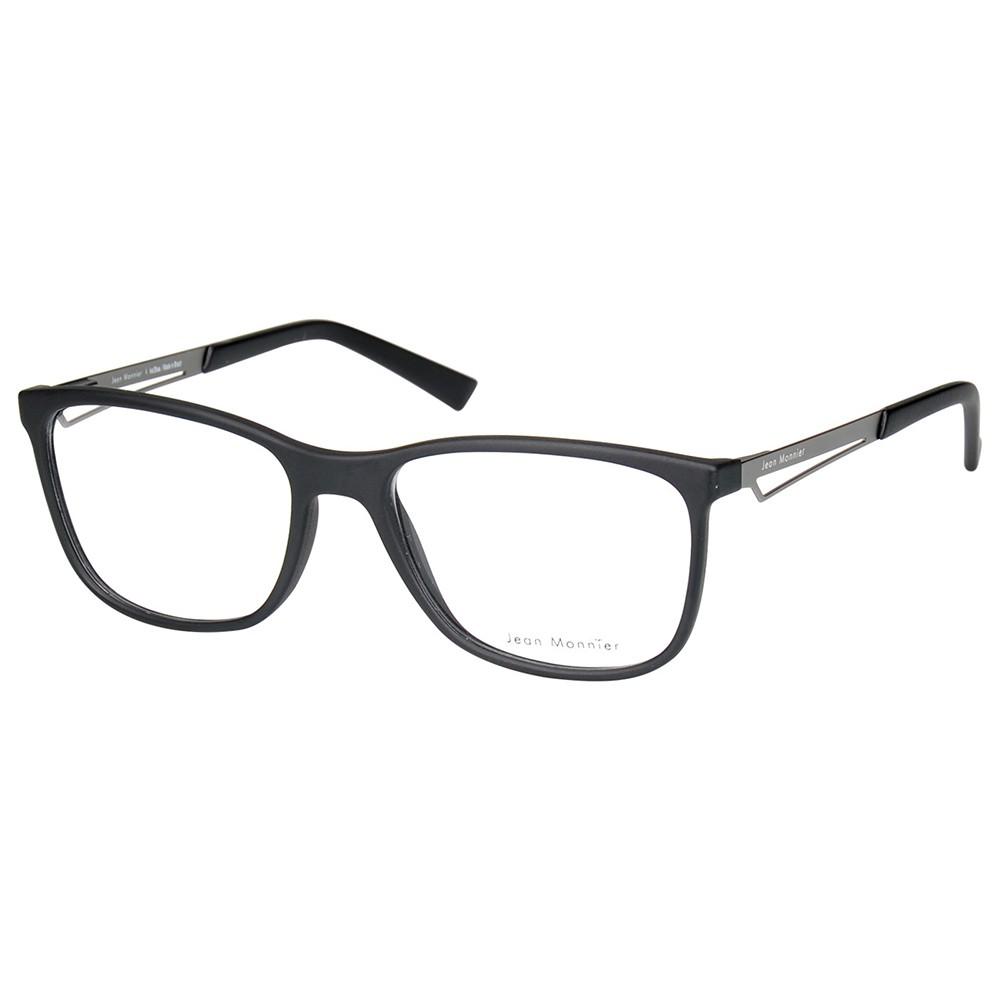 eadadc7235a5f Óculos de Grau Jean Monnier Wayfarer Acetato Preta Aro Fechado Sem Plaquetas  0j83159 e729 54 ...