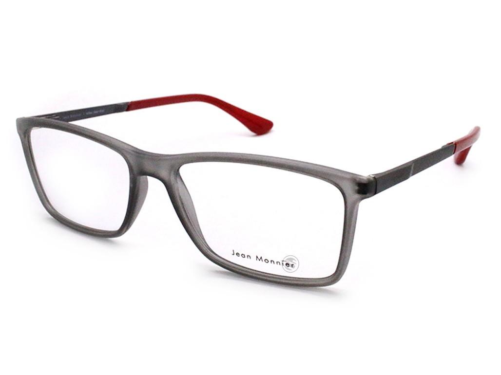 9bd9968cca5a0 Óculos de Grau Jean Monnier Retangular Acetato Cinza Aro Fechado Sem  Plaquetas 0j83145 d354 54 ...