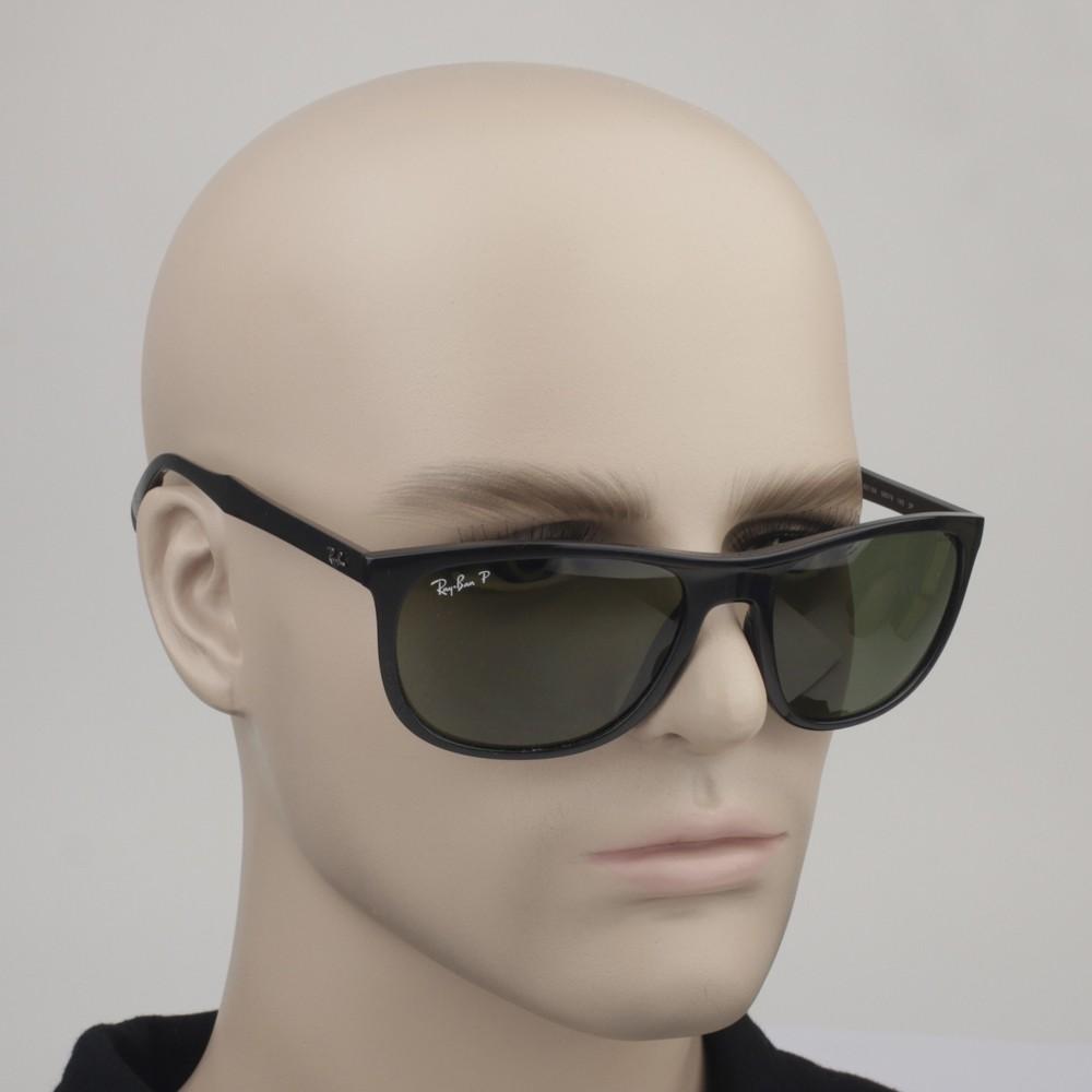 c6b4931725a05 ... Óculos de Sol Ray-Ban Retangular Armação Acetato Preta Lente Verde  Polarizada Sem Plaquetas 0rb4291