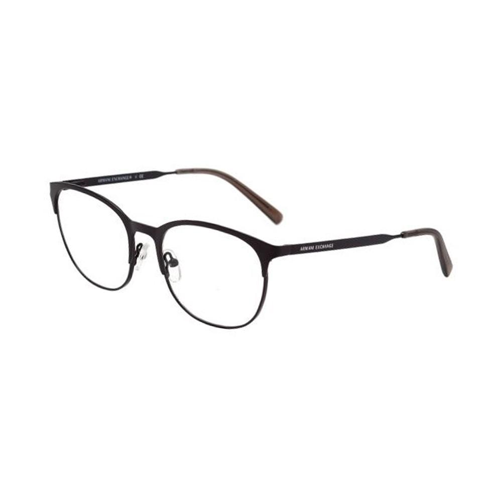 Óculos de Grau Armani Exchange Redondo Metal Preta Aro Fechado Com Plaquetas  0ax1025 6000 53 ... a83ec78467