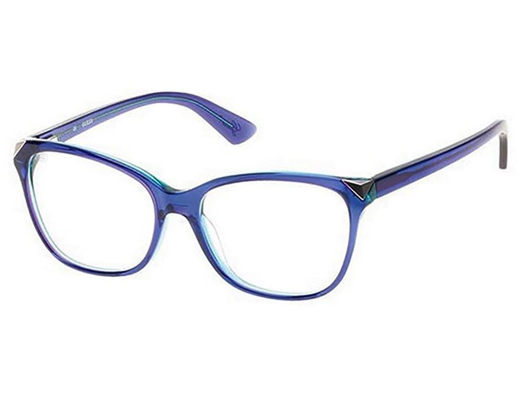 66849b6b4e0ef Óculos de Grau Guess Quadrado Acetato Azul Aro Fechado Sem Plaquetas  gu2494 53090