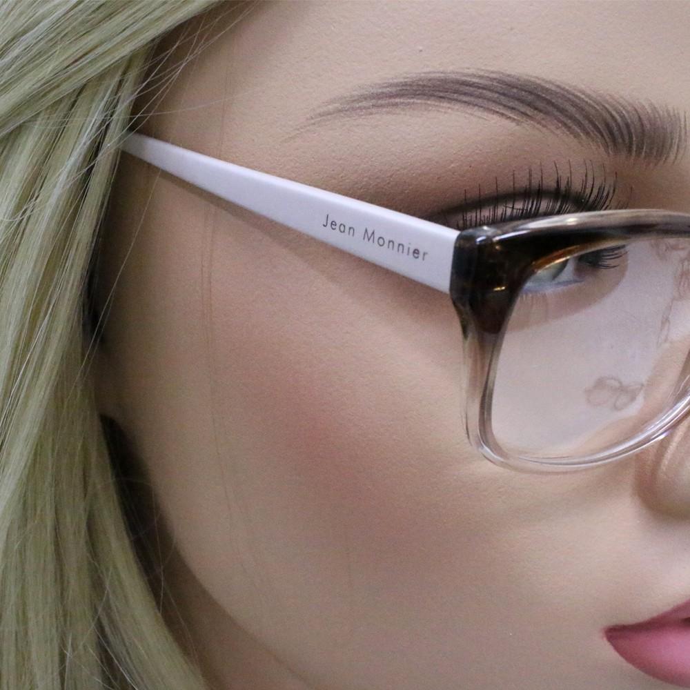 bcc2c5ad31892 ... Óculos de Grau Jean Monnier Gatinho Acetato Tartaruga Aro Fechado Sem  Plaquetas 0j83148 f336 51
