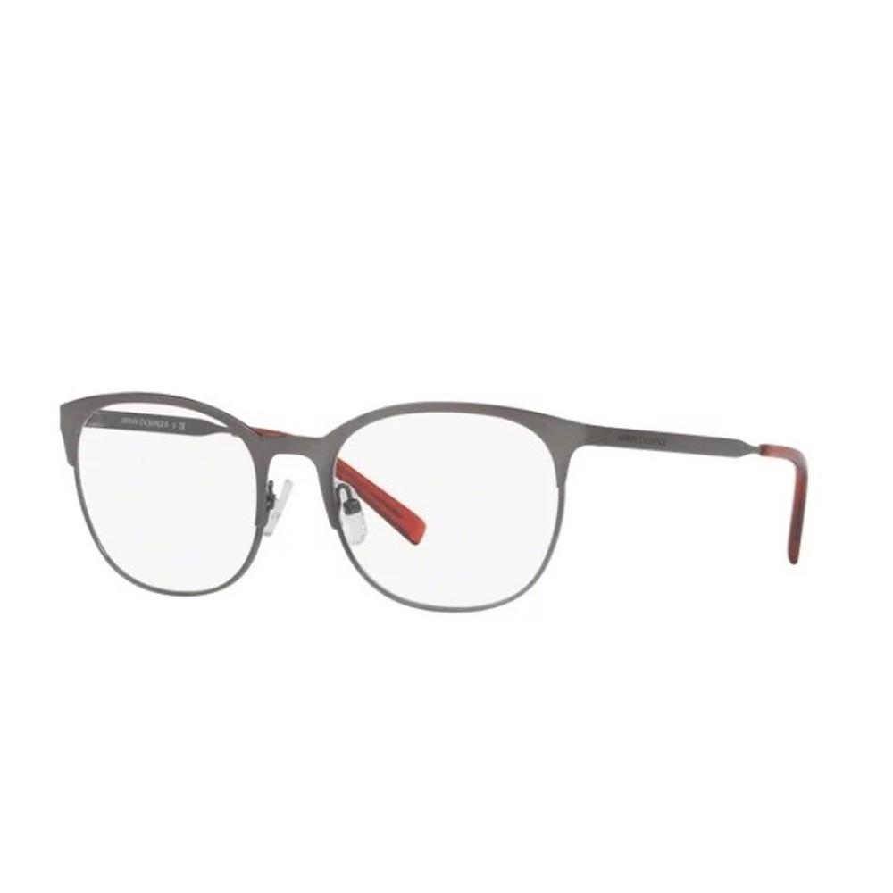 Óculos de Grau Armani Exchange Redondo Metal Cinza Aro Fechado Com  Plaquetas 0ax1025 6088 53 ... 6c919d9788