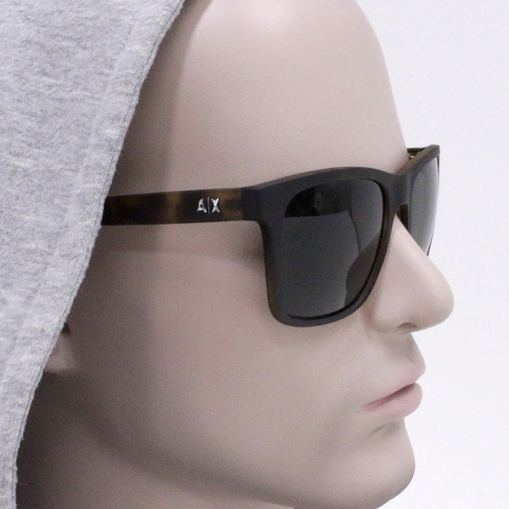 ... Óculos de Sol Armani Exchange Wayfarer Armação Acetato Tartaruga Lente  Verde Comum Sem Plaquetas ax4063sl 80297157 588ece7ff6