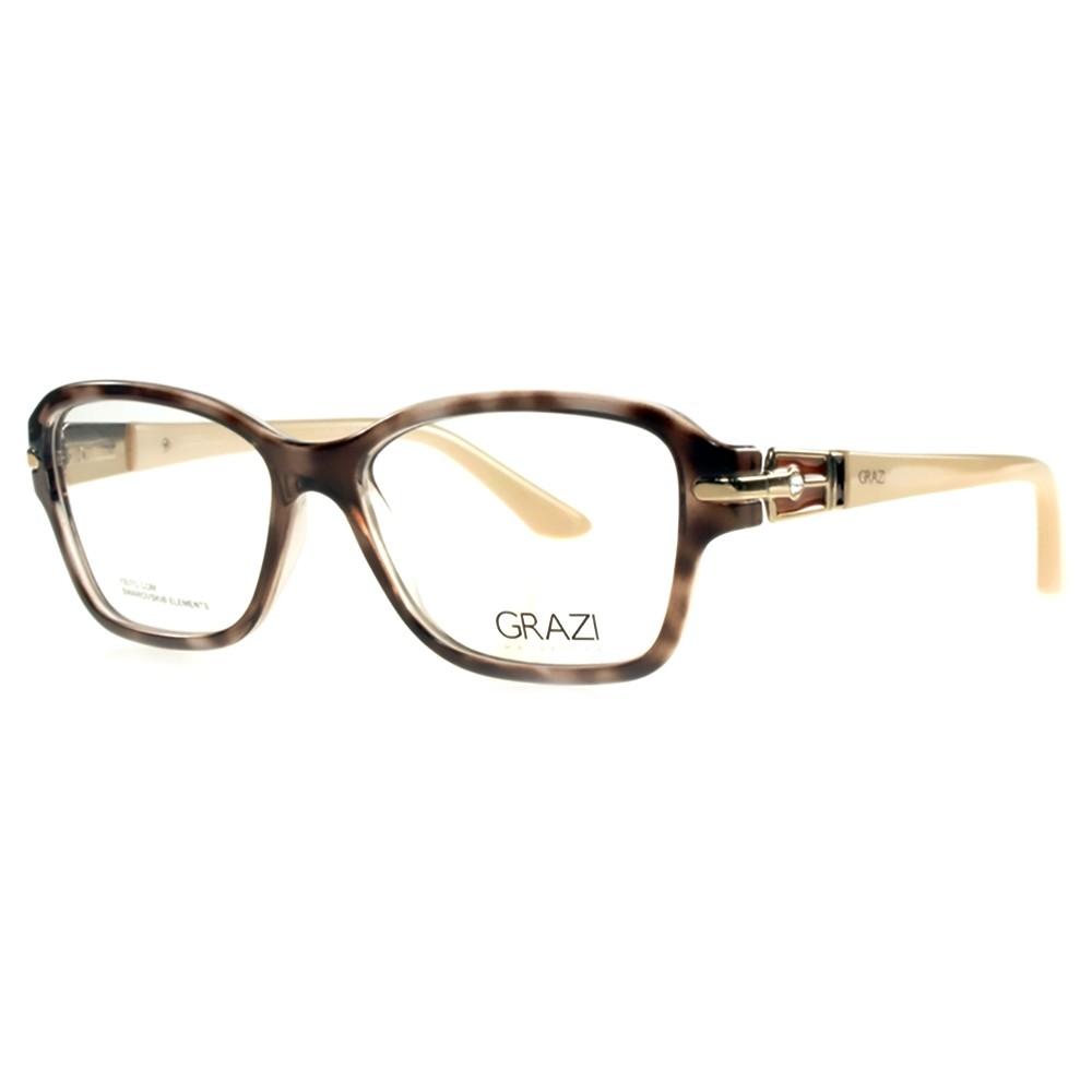 c80e4e2713b2d Óculos de Grau Grazi Massafera Tartaruga Acetato Marrom Aro Fechado Sem  Plaquetas 0gz3003b d39052