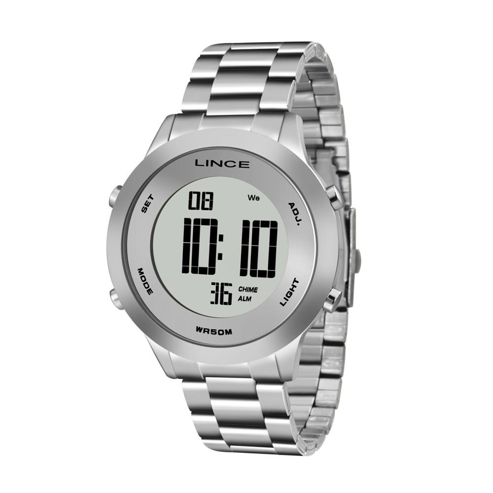 4ff56beb9c7 Relógio Lince Caixa Redonda Digital Metal Prata Pulseira Metal Prata  sdph039l sxsx Authentika Joias