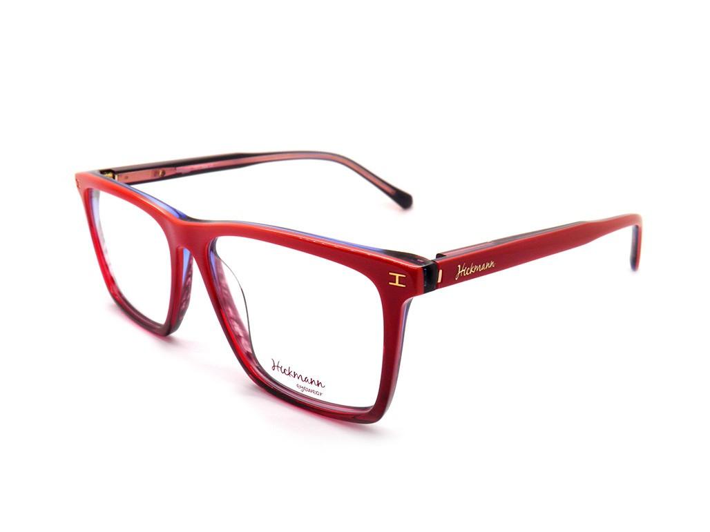3db3e2fc6c00f Óculos de Grau Ana Hickmann Quadrado Acetato Vermelha Aro Fechado Sem  Plaquetas hi6017 c06