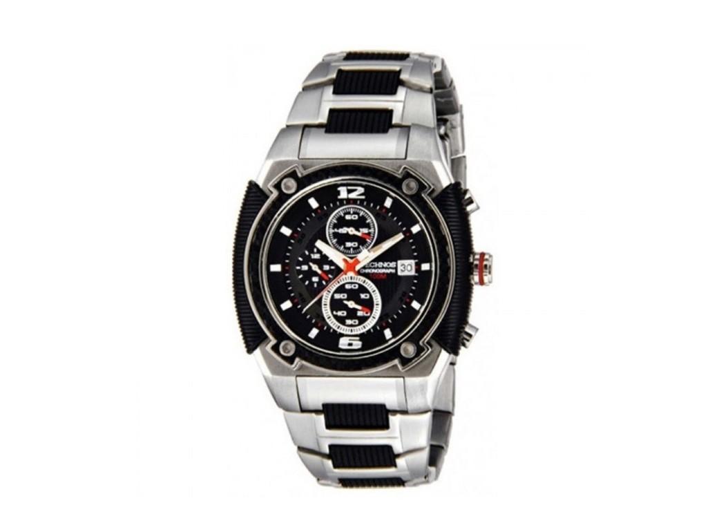 46df222d70b Relógio Technos Skymaster Prata e Preto Masculino Authentika Joias