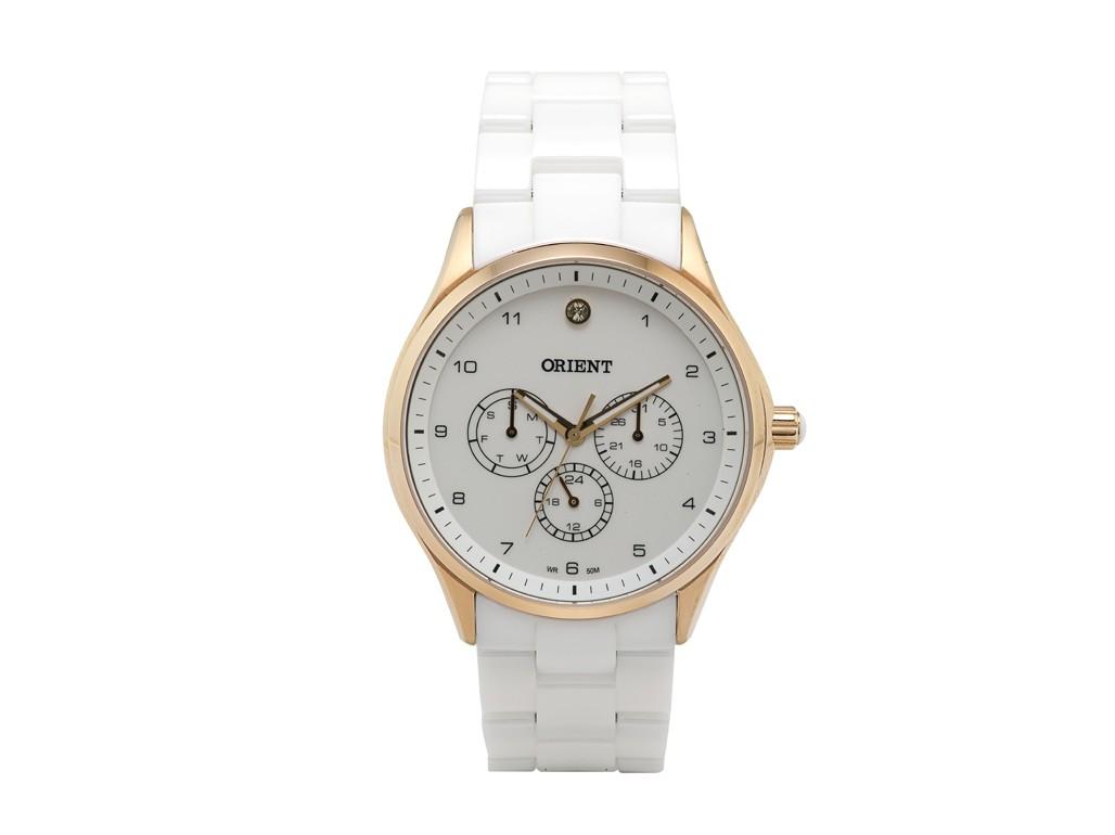 99f2a38a399 Relógio Orient Branco e Dourado Feminino Authentika Joias