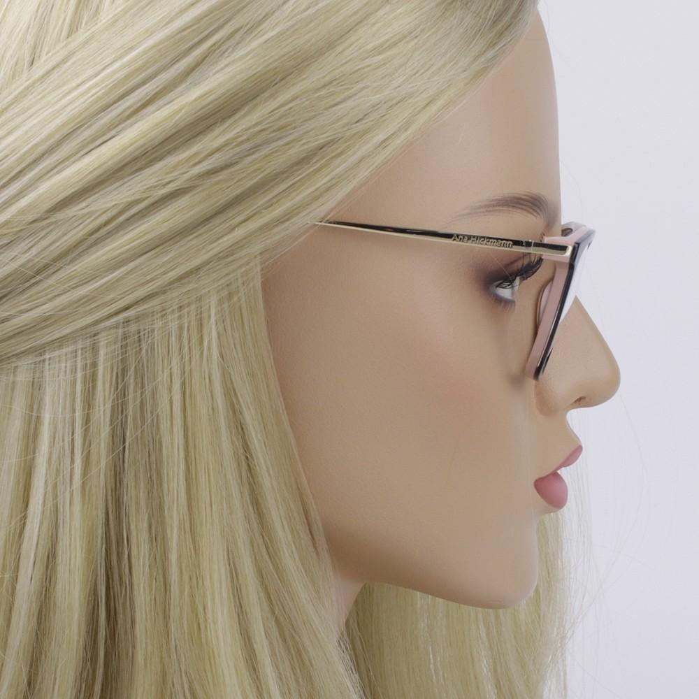 ... Óculos de Grau Ana Hickmann Quadrado Acetato Preta Aro Fechado Sem  Plaquetas ah6269 a02 4e0c2b0e61