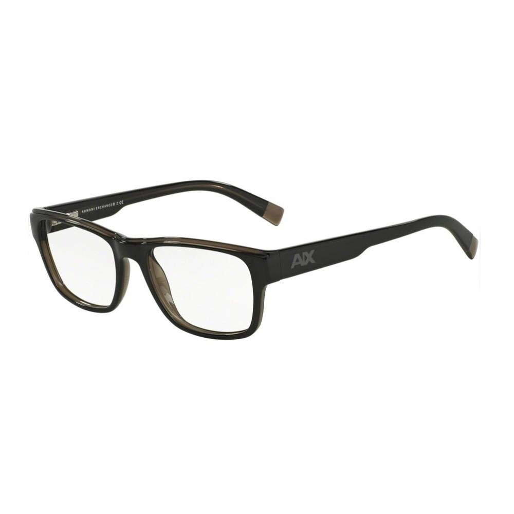Óculos de Grau Armani Exchange Retangular Acetato Preta Aro Fechado Sem  Plaquetas 0ax3018 1840 53 ... fe26c83845