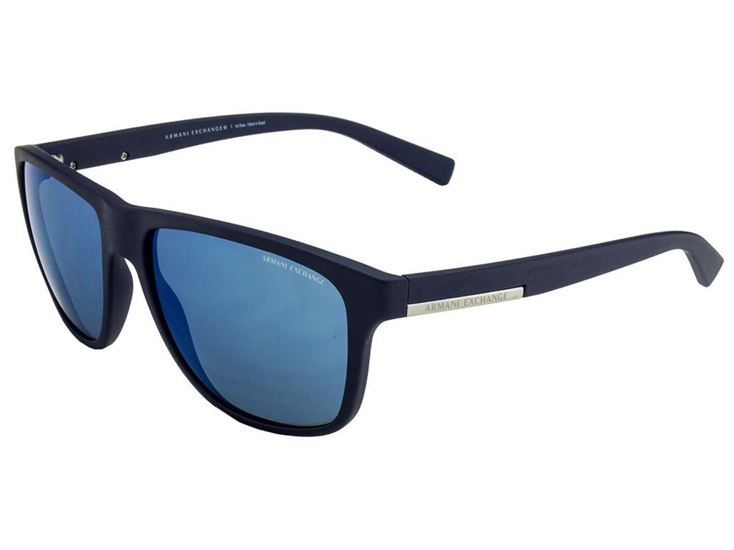 27c8fe49482a3 Óculos de Sol Armani Exchange Quadrado Armação Plástico Azul Lente Azul  Espelhada Sem Plaquetas 0ax4052sl 81815558