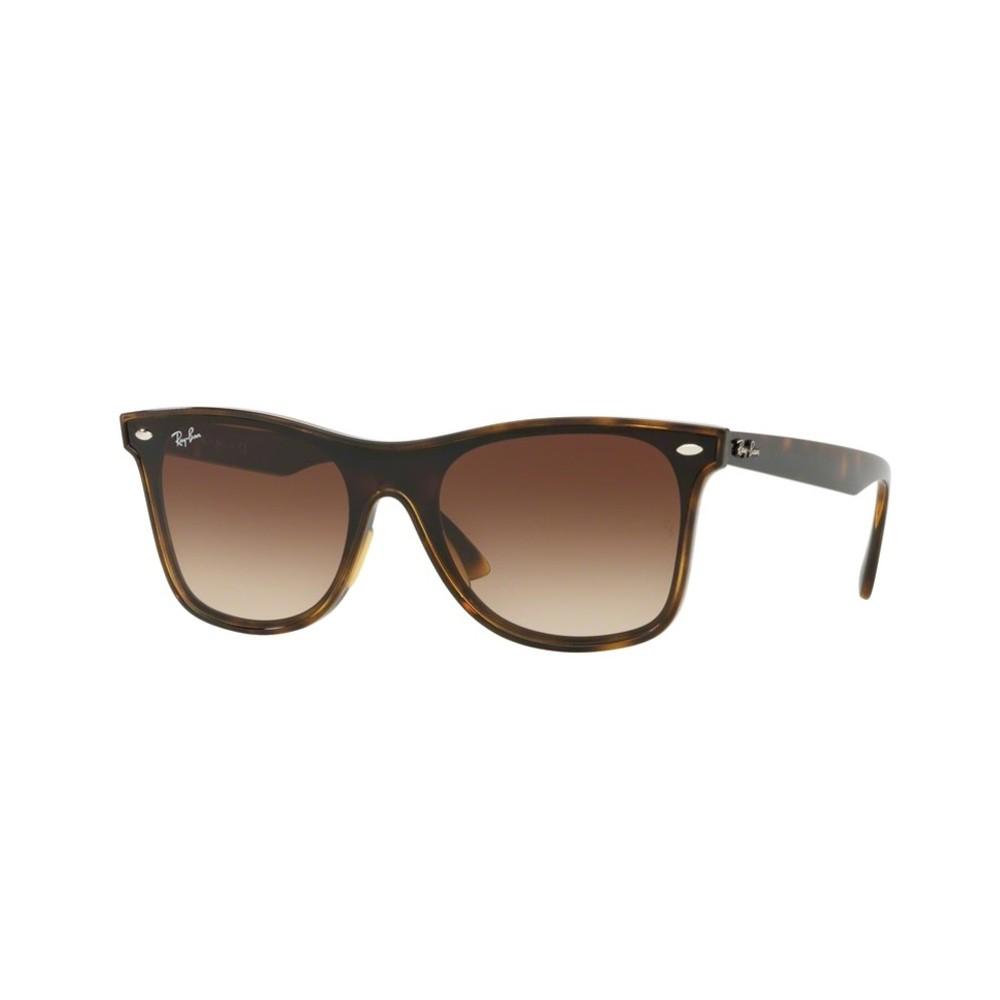 7d7748cc79412 Óculos de Sol Ray-Ban Quadrado Armação Acetato Tartaruga Lente Marrom  Degradê Sem Plaquetas 0rb4440n ...