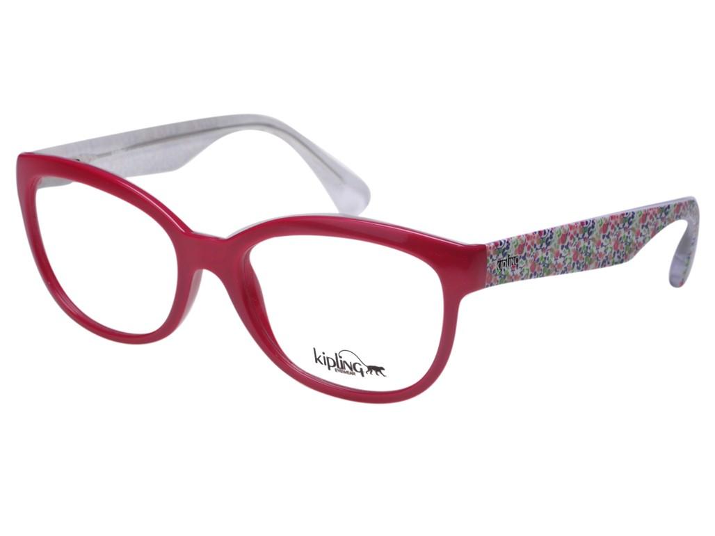 ef47084478831 Óculos de Grau Kipling Gatinho Acetato Vermelha Aro Fechado Sem Plaquetas  0kp3071d02752