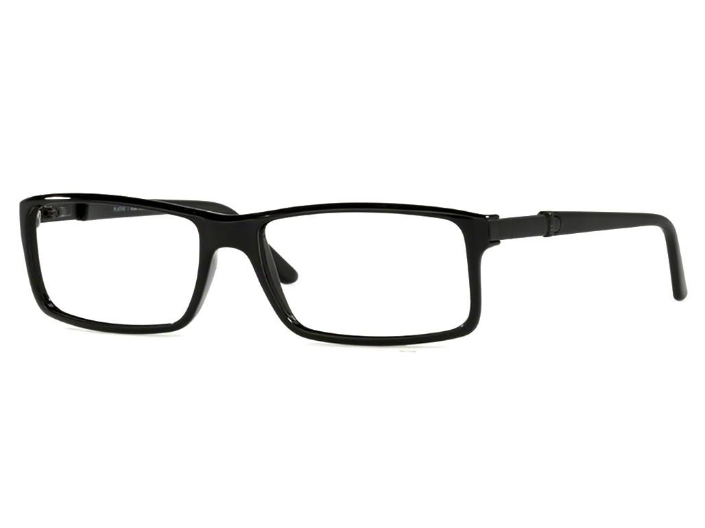 95f20381a Óculos de Grau Platini Retangular Acetato Preta Aro Fechado Sem Plaquetas  0p93090 b799 54
