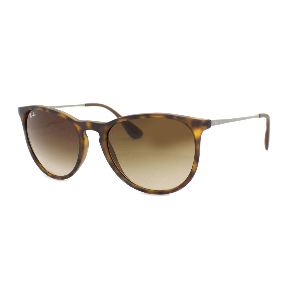 f170d24327ee5 Óculos de Sol Ray-Ban Redondo Armação Acetato Tartaruga Lente Marrom  Degradê Sem Plaquetas 0rb4171l ...