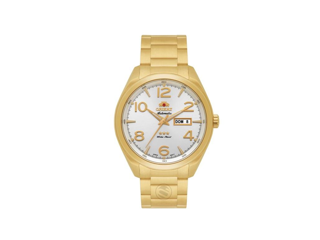 ac540fec4dc Relógio Orient Automatic Branco e Dourado Feminino Authentika Joias
