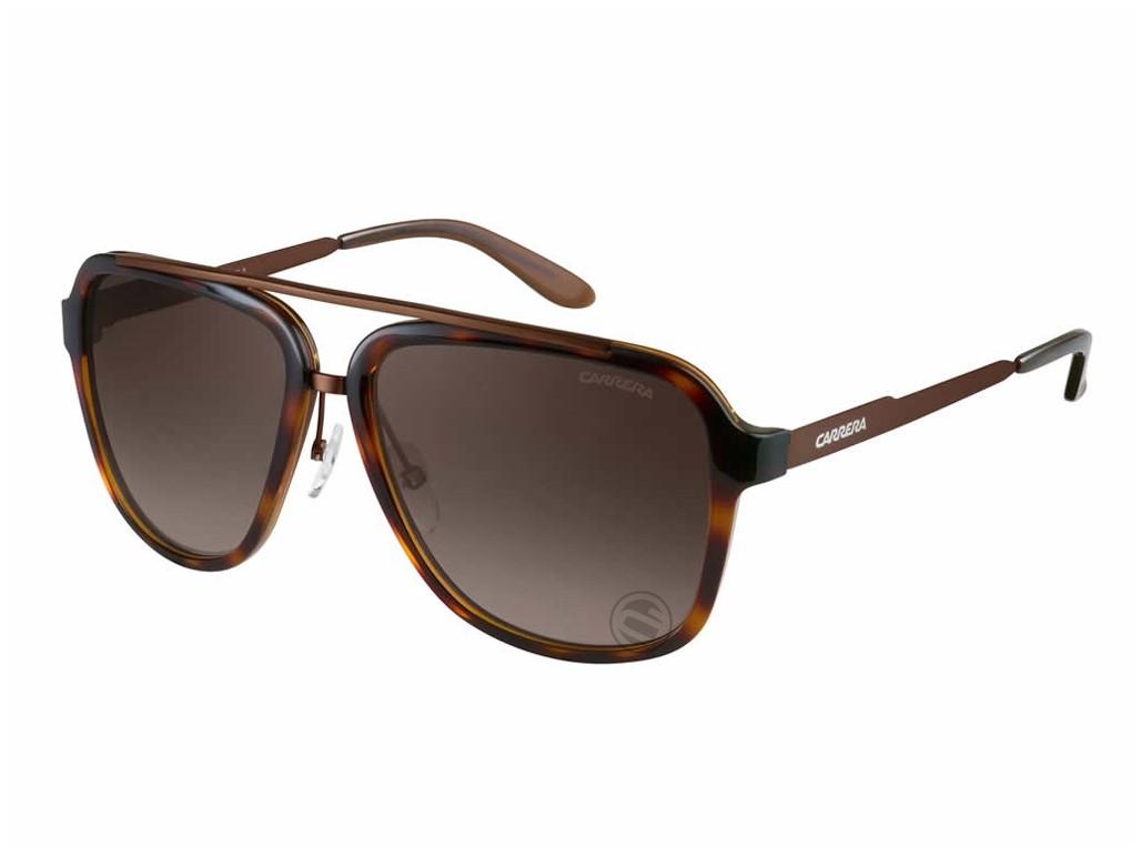 0b0bfccd50199 Óculos de Sol Carrera Quadrado Armação Acetato Tartaruga Lente Marrom  Degradê Com Plaquetas 97 s ...