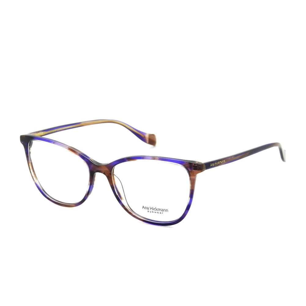 Óculos de Grau Ana Hickmann Quadrado Acetato Roxa Aro Fechado Sem Plaquetas  ah6340 e02 ... df9cd53d08