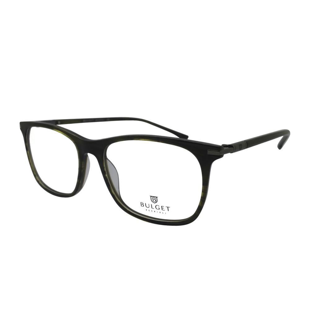 356db93ed3473 Óculos de Grau Bulget Quadrado Acetato Verde Aro Fechado Sem Plaquetas  bg6255 e03 ...