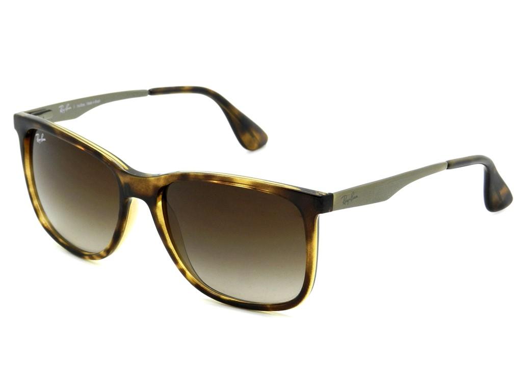 2711ba2b387f8 Óculos de Sol Ray-Ban Quadrado Armação Acetato Tartaruga Lente Marrom  Degradê Sem Plaquetas 0rb4271l