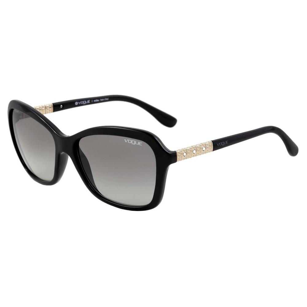 c01b27b53d81c Óculos de Sol Vogue Quadrado Armação Acetato Preto Lente Preta Comum Sem  Plaquetas vo5021bl w44  ...