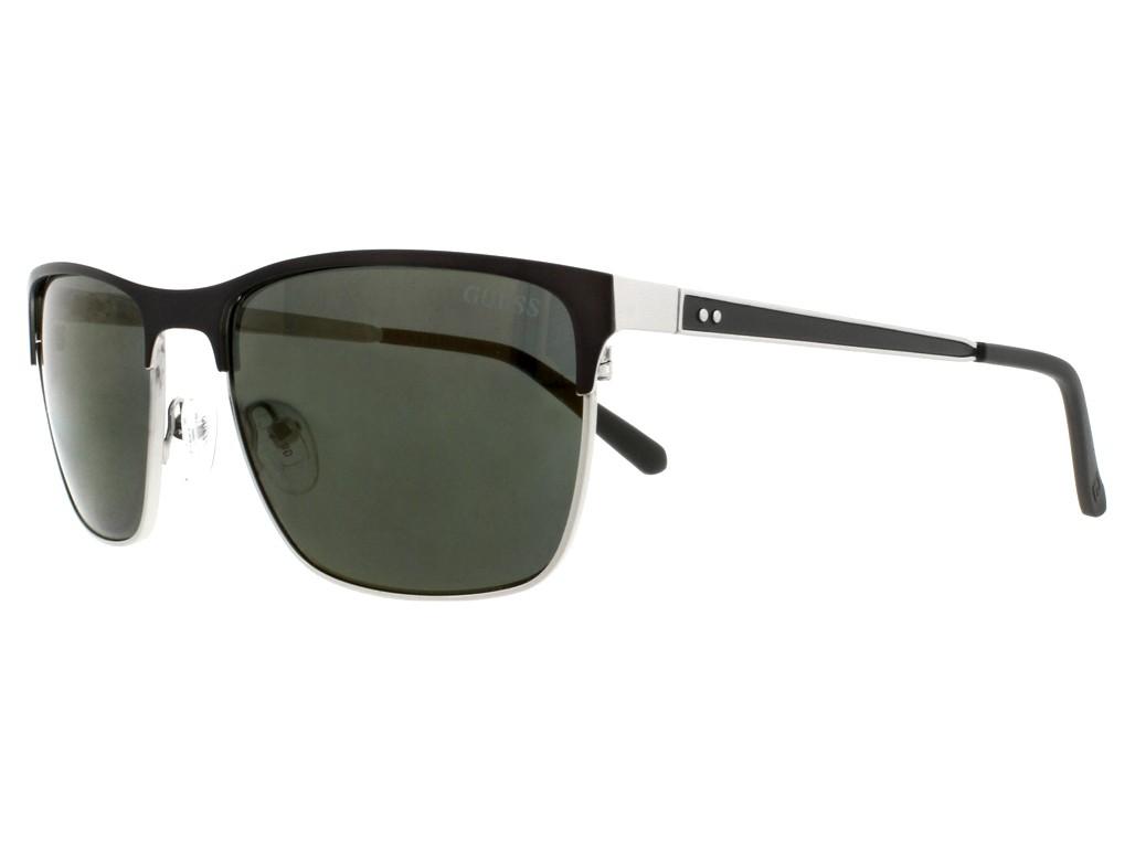 Óculos de Sol Guess Quadrado Armação Metal Preta Lente Verde Comum Com  Plaquetas gu6878 5709n 1aa13de488