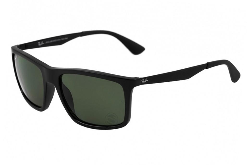 1a8f92e3f0170 Óculos de Sol Ray-Ban Quadrado Armação Acetato Preta Lente Preta Comum Sem  Plaquetas 0rb4228l601s7158