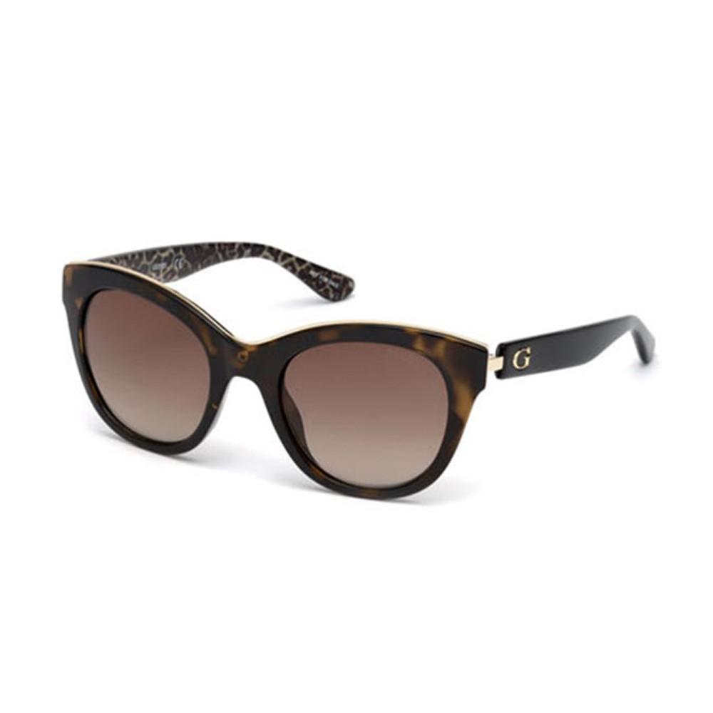 6b35236c88bbf Óculos de Sol Guess Gatinho Armação Acetato Tartaruga Lente Marrom Degradê  Sem Plaquetas gu7494 5052f ...