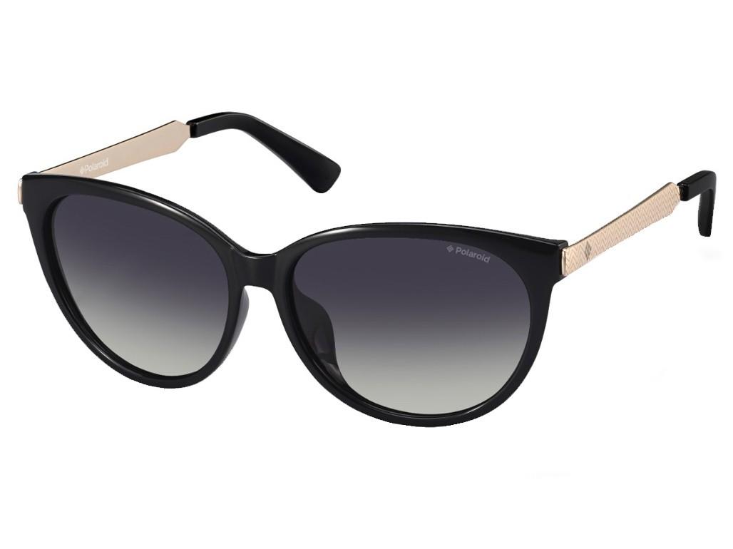 Óculos de Sol Polaroid Redondo Armação Acetato Preto Lente Preta Comum Sem  Plaquetas pld 5015  ec07dc5996